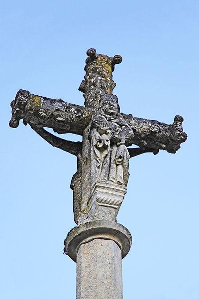 Croix de parvis de l'église à Villotte-Saint-Seine, face ouest