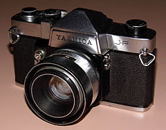 Vintage Yashica J-P 35mm SLR Film Camera, Made In Japan, Released In 1964, A Budget Version Of The Penta J (13580931815).jpg
