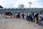 Visitors Waiting for Shuttle Buses to Hsinchu Air Force Base 20151121.jpg