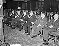 Vlnr. Coudenhove-Kalgeri, prof. Schlichting, Alcide de Gasperi, Paul Henri Spaa, Bestanddeelnr 906-0221.jpg