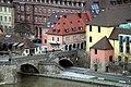 Würzburg, Blick von der Festung Marienberg zur Alten Mainbrücke, Bild 2.jpg