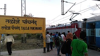 Taloja Panchnand railway station - WAG 5 at Taloja Panchnand railway station
