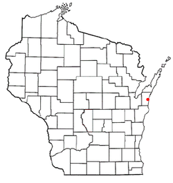 Location of Kewaunee, Wisconsin