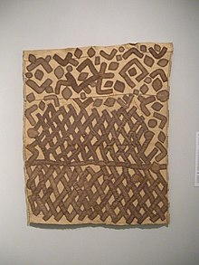 Kuba cloth from early-mid 20th century, currently at the Honolulu