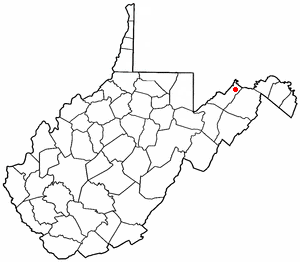 Fort Ashby, West Virginia - Image: WV Map doton Fort Ashby
