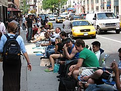 Waiting for iPhones NYC