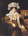 Waldmüller - Frau Kritter-Babics mit dem Bildnis ihres verstorbenen Gatten.jpeg