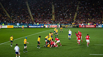 2011 Rugby World Cup knockout stage - Image: Wales vs Australia 2011 RWC (2)