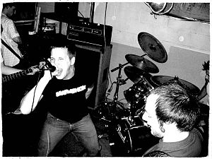 Basement show - Walk The Line was a Syracuse, NY based hardcore punk band from 2003 to 2006. This picture was from a New Year's Eve basement show.