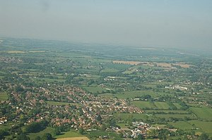 English: Waltham Chase from a helicopter