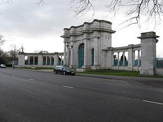 The Meadows, Nottingham - Victoria Embankment War Memorial at Trentside, The Meadows.