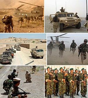 guerra en irak y afganistan: