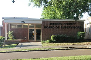 Warren County, Mississippi - The Warren County Board of Supervisors meets in this mall building at 903 Jackson Street in Vicksburg.