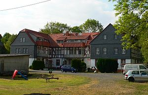 Manor house of the former moated castle Angenrod