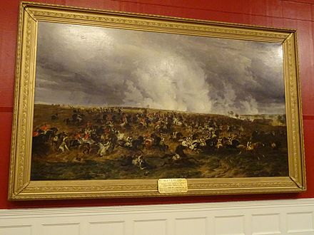 The Battle of Waterloo, 1847. Williamson Art Gallery, Birkenhead Waterloo by T.S.Cooper.jpg