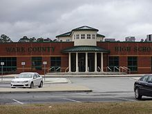 Waycross High School entrance close up.JPG