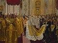Wedding of Nicholas II and Alexandra Feodorovna by Laurits Tuxen (1895-6, Royal coll.).jpg