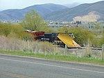 Wedge plow at Charleston station in Wasatch County, Utah, Apr 16.jpg