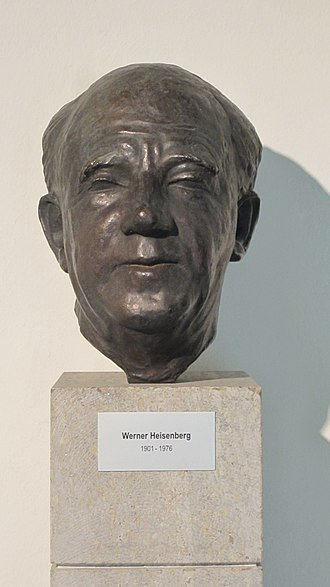 Werner Heisenberg - Bust of Heisenberg in his old age, on display at the Max Planck Society campus in Garching bei München.