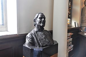 Donald Soper, Baron Soper - Bust of Donald Soper in the foyer of Wesley's Chapel, City Road, London