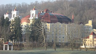 West Baden Springs Hotel - Dome of the hotel