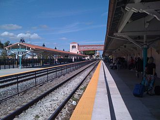 West Palm Beach station - Image: West Palm Beach station tracks Amtrak side north view
