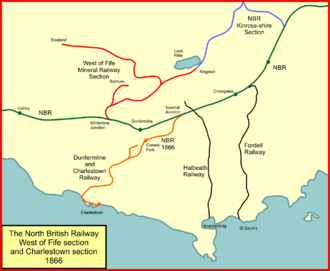 Mineral railways of Dunfermline - The West of Fife Mineral Railway system