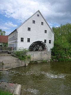 Zusam river in Germany