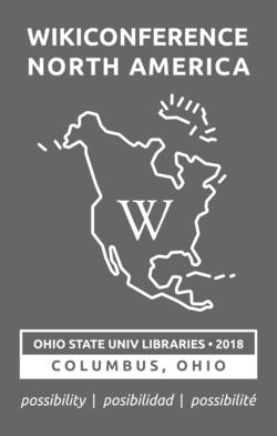 WikiConference North America 2018 logo