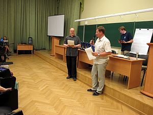 Wiki Party in Moscow 2013-05-18 (Wiki Award; Krassotkin; 01).JPG