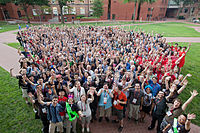 Group photo of participants at Wikimania 2012 (Washington D.C.)