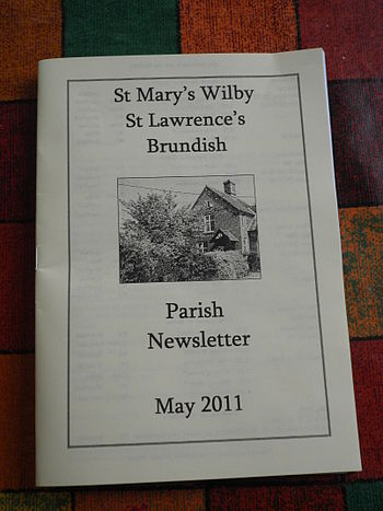 English: Wilby & Brundish Church Newsletter Ma...