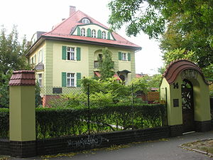 Siege of Breslau - Villa Colonia at Rapacki Street 14 (former Kaiser-Friedrich-Strasse), where the instrument of surrender of the Breslau garrison was written.