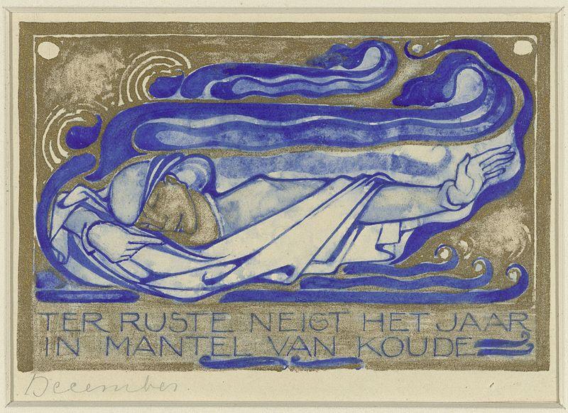 File:Willem Arondeus - Ter ruste neigt het jaar in mantel van koude, december - Rijksmuseum Amsterdam - RP-T-1930-90.jpg