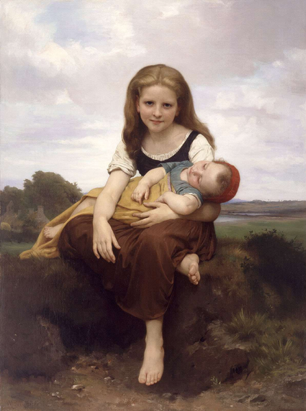 File:William-Adolphe Bouguereau (1825-1905) - The Elder Sister (1869).png