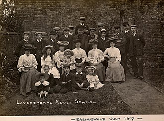 William Hayes (photographer) - Image: William Hayes York City Archives Members of Layerthorpe Adult school cca 1907