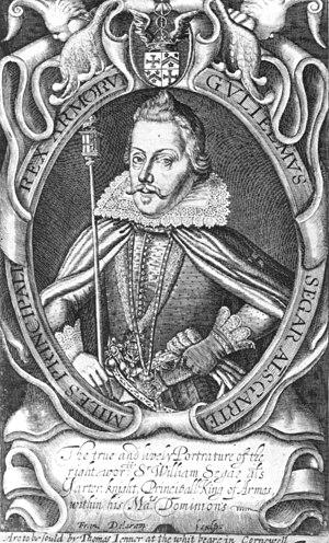 William Segar - William Segar, Garter Principal King of Arms, early 17th century
