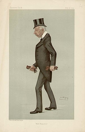 "William Wither Beach - ""West Hampshire"" Beach as caricatured by Spy (Leslie Ward) in Vanity Fair, June 1895"