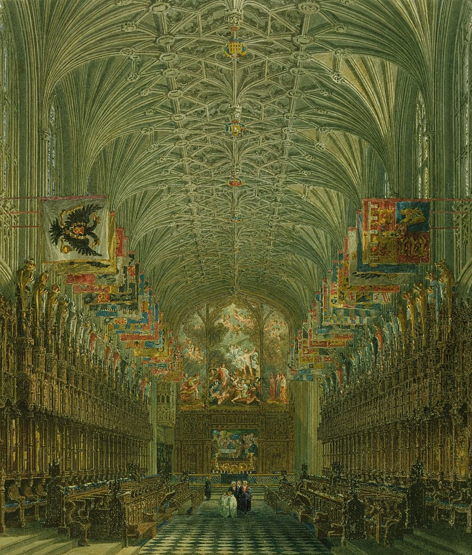 Windsor Castle, Quire of St George's, by Charles Wild, 1818 - royal coll 922115 257036 ORI 0