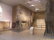 The British Museum, Room 10 - Human Headed Winged Bulls from Khorsabad, companion pieces in the Musée du Louvre