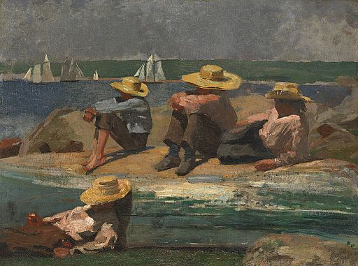 Winslow Homer - Children on the beach (1873)