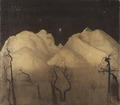 Winter Night in the Mountains. Study (Harald Sohlberg) - Nationalmuseum - 25961.tif