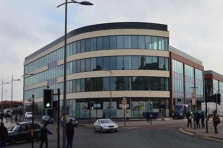 The i10 building contains 12,400 sq.ft of leisure and retail space on the ground floor and 36,000 sq.ft of office space above Wolverhampton i10.JPG