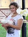 Woman Posing with Doves - Rotunda of Peoples' Friendship Poltava - Ukraine - 01 (43823894541).jpg