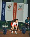 Women's weighlifting Special Olympics Dublin 2003.JPG