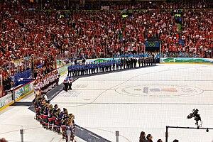 Ice hockey at the 2010 Winter Olympics – Women's tournament - Image: Women Hockey 2010Winter Olympicsvictory