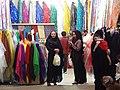 Women in Chadors Shopping in Bazaar - Shiraz - Central Iran (7427874160) (2).jpg