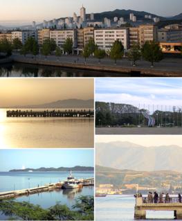 Wonsan port city in Kangwon Province, North Korea
