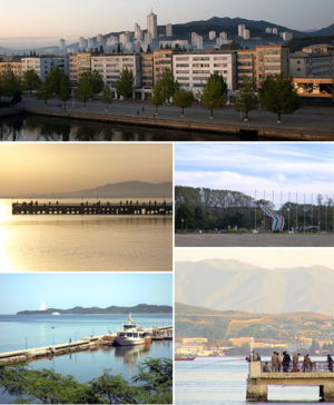 Wonsan - View of Wonsan
