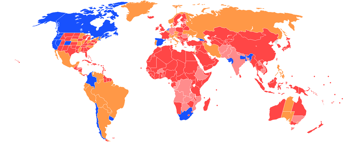 Legality Of Cannabis By Country Wikipedia - Map of countries of the world
